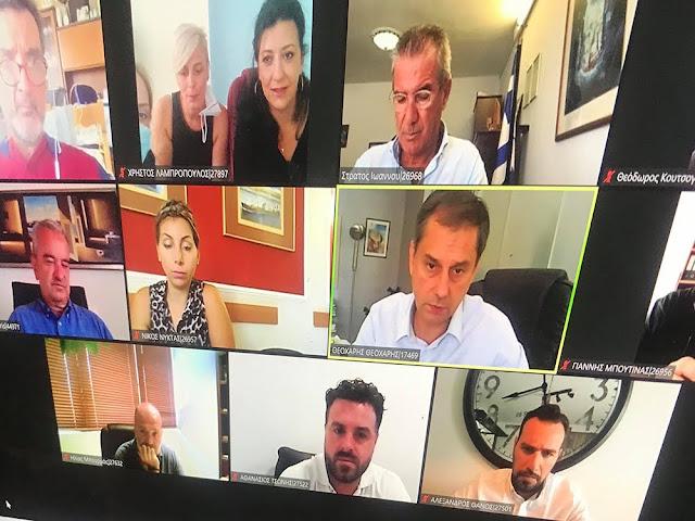 Τουρισμός: Διαπεριφερειακή τηλεσύσκεψη υπό τον υπουργό Χ. Θεοχάρη