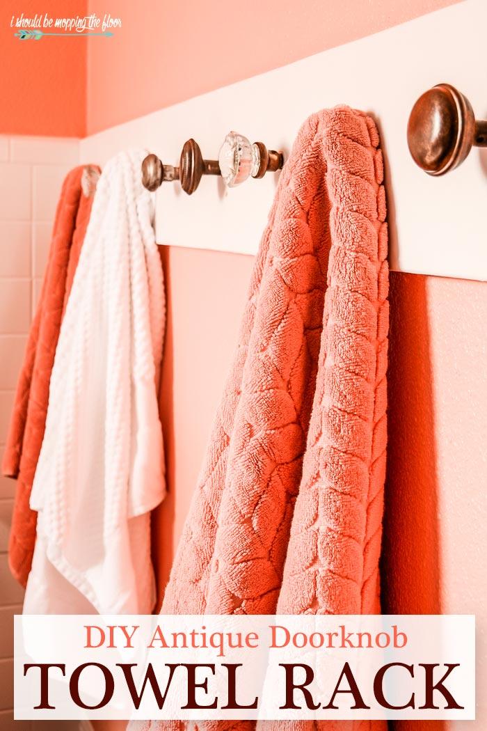 Antique Door Knob Towel Holder