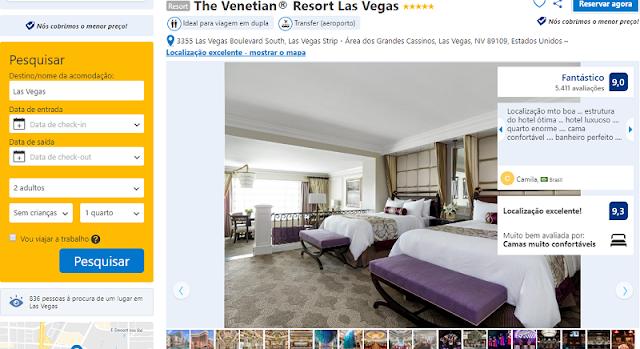 Estadia no The Venetian Resort Hotel & Casino em Las Vegas