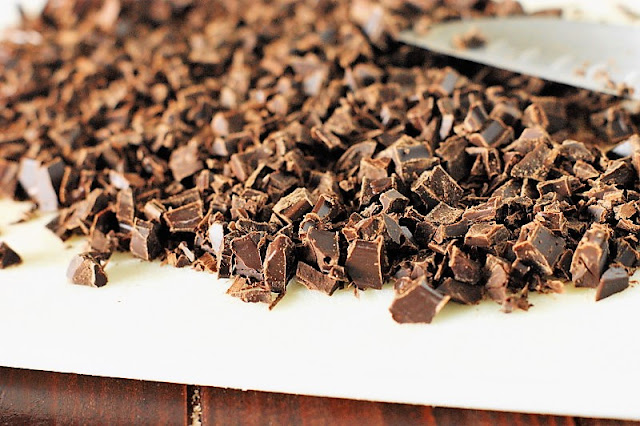 Chopped Chocolate for How to Make Chocolate Truffles Image