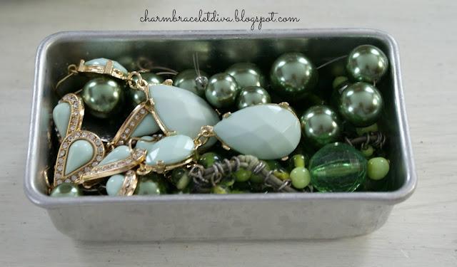 vintage green teardrop rhinestones green glass beads