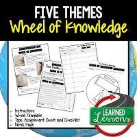Five Themes of Geography Activity, World Geography Activity, World Geography Interactive Notebook, World Geography Wheel of Knowledge (Interactive Notebook)