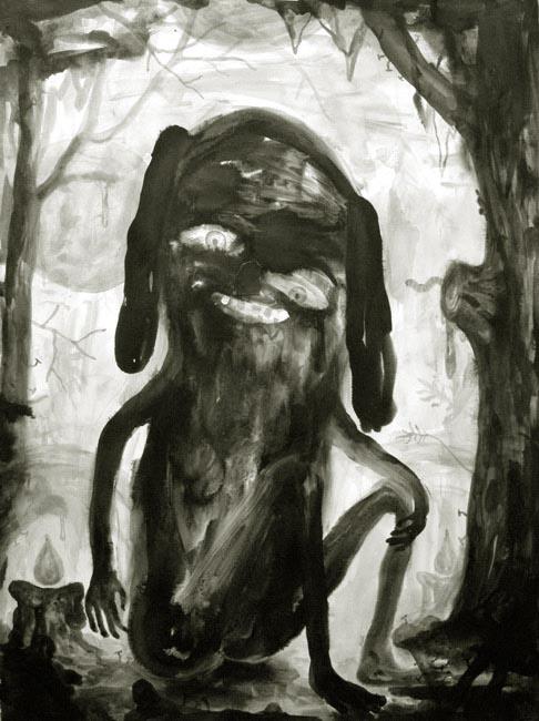 Daniel Jensen Labrador, 2011 ink on paper, 76 x 56 cm