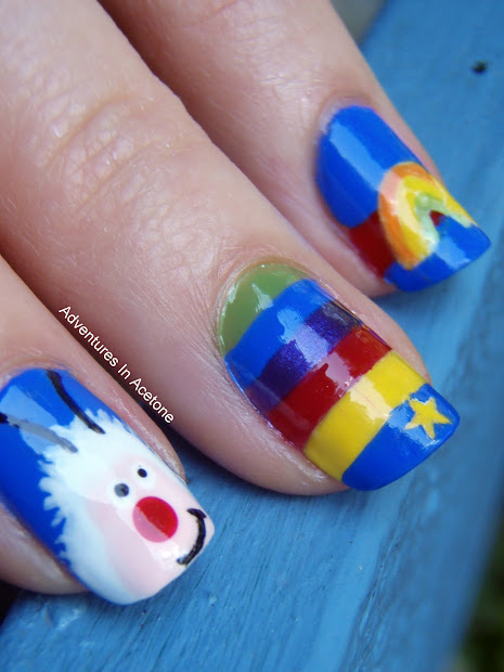 Day 9 Rainbow Nails - Adventures In Acetone