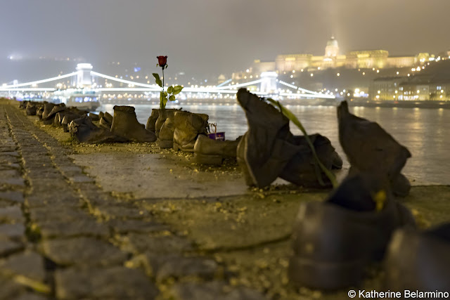 Shoes of the Danube Bank Budapest Hungary