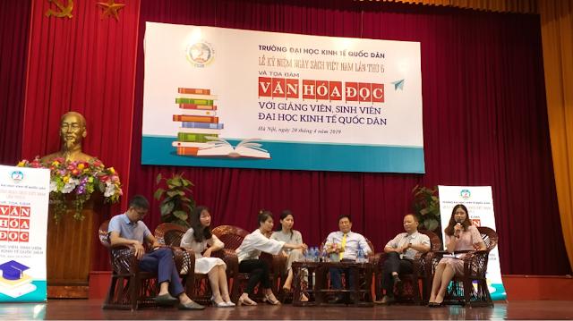 """Giới thiệu Tài nguyên Giáo dục Mở nhân tọa đàm """"văn hóa đọc với giảng viên và sinh viên"""" tại trường Đại học Kinh tế Quốc dân nhân Ngày sách Việt Nam lần thứ 6, năm 2019"""
