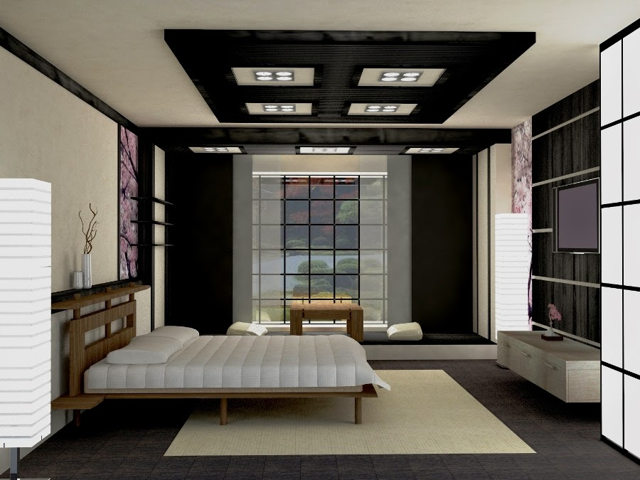 false ceiling pop designs for bedrooms in Japanese style. 35 Best false ceiling pop design with LED ceiling lighting