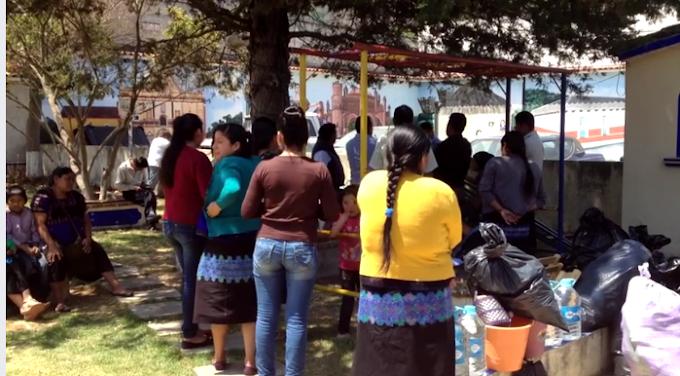 Tras paz social retorna primer grupo de desplazados al Municipio de Chenalho.
