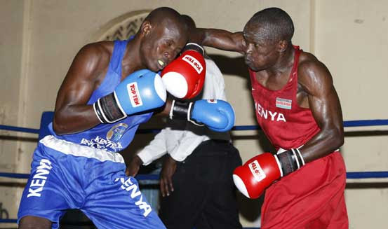 Mshindi wa medali ya dhahabu Nick Okoth akiwa mazoezini,Picha kwa hisani ya Standard Digital