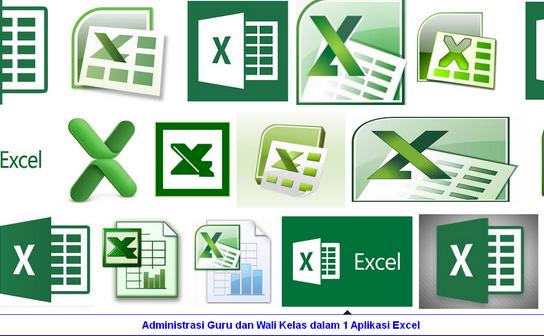 Administrasi Guru dan Wali Kelas dalam 1 Aplikasi Excel