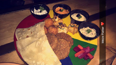 Mezze Platter by Dum Maro Dum Cafe, Hudson Lane, Gtb Nagar Delhi