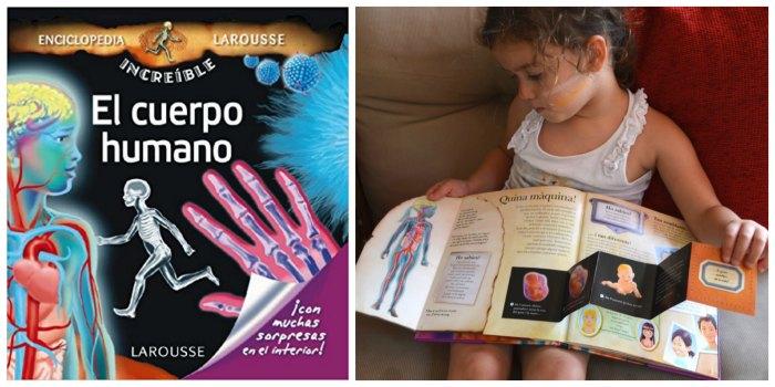 libros infantiles, materiales, actividades manualidades aprender cuerpo humano enciclopedia increible larousse