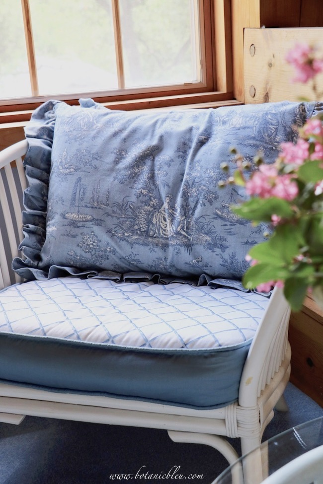 Blue toile is a classic French Country style for a summery look that never goes out of style.