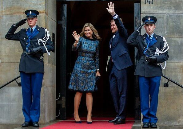Queen Maxima wore Natan dress from Natan couture Fall/Winter 2017 collection. Princess Beatrix and Princess Margriet