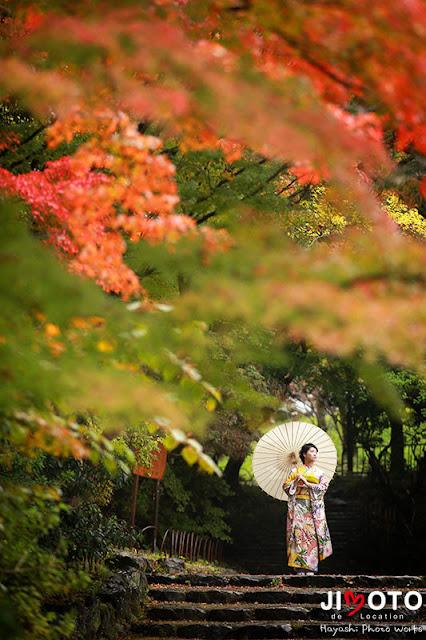 京都で成人式前撮りロケーション撮影
