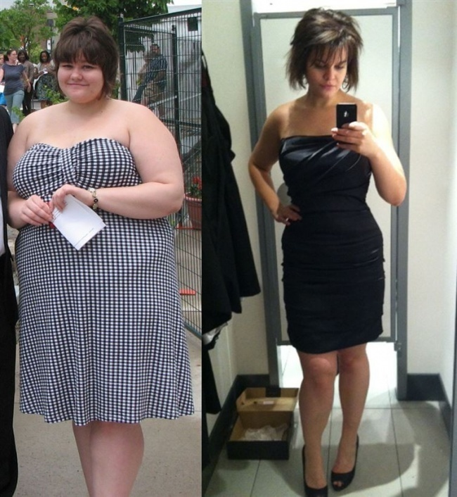 #4. Whether you've gained them or lost them, 138 pounds can make a huge difference. - 23 Inspirational Before/After Photos Of People Who Can Say 'I Did It.'