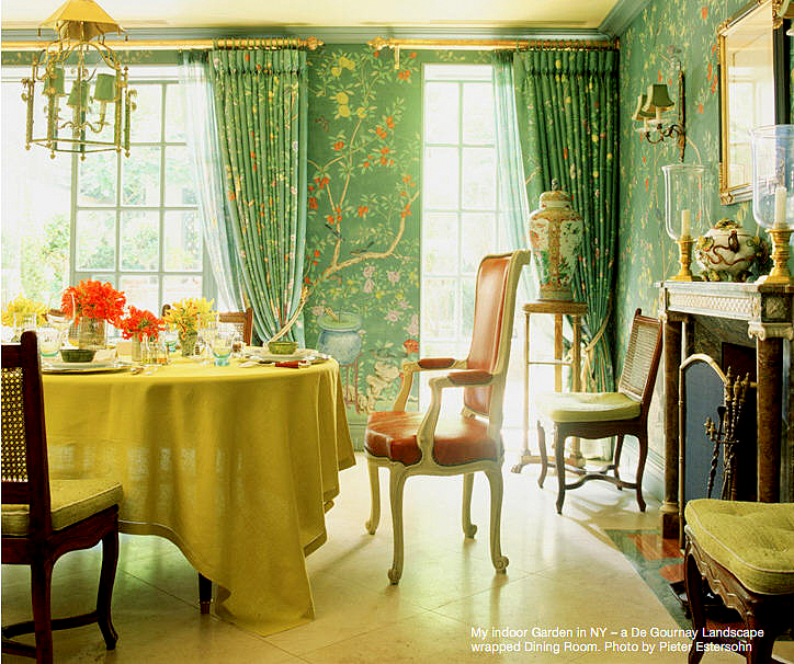 Colorful Rooms Moss: Chinoiserie Chic: Green Dining Room By Charlotte Moss