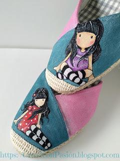 Zapatos-esparto-Gorjuss-pintura-en-tela-Crea2-con-Pasión-6