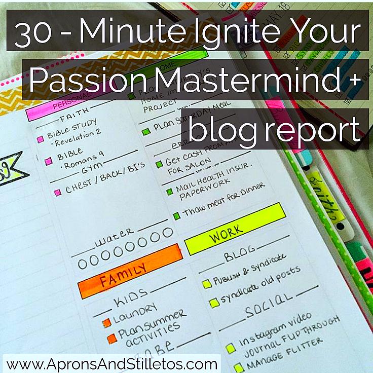 30 - Minute Ignite Your Passion Mastermind + blog report