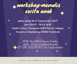 Workshop Menulis Cerita Anak Hasfa Camp