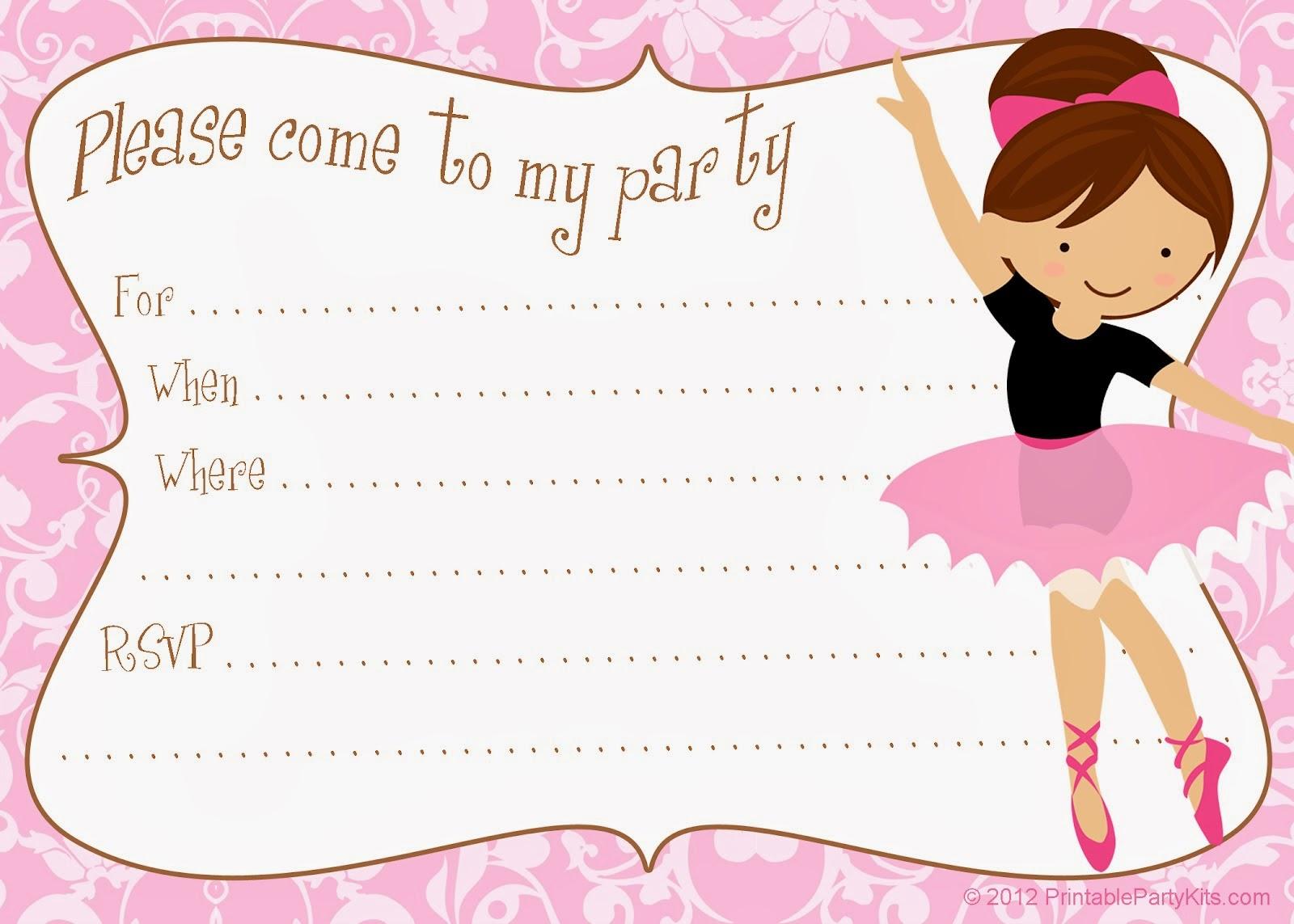 Bubuabela Ballet Tea Party Birthday