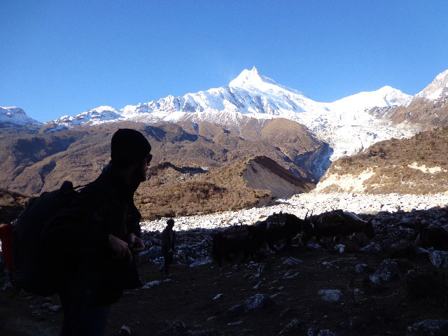 Manaslu base camp at the time of the Manaslu trekking