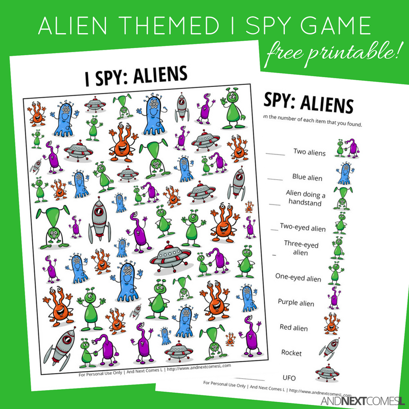 Current image with i spy games printable