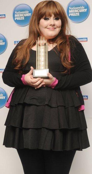 Foto de Adele con sobrepeso