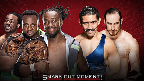 WWE Extreme Rules 2016 New Day vs Vaudevillains