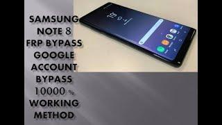 Bypass FRP All Samsung last security 2019 Work (N950N )
