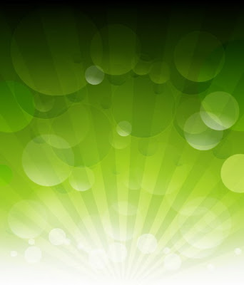 Vector Green Bokeh Abstract Light Background
