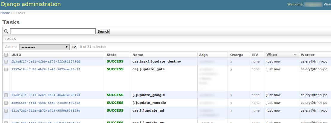 Capture and save celery tasks information into the database in your