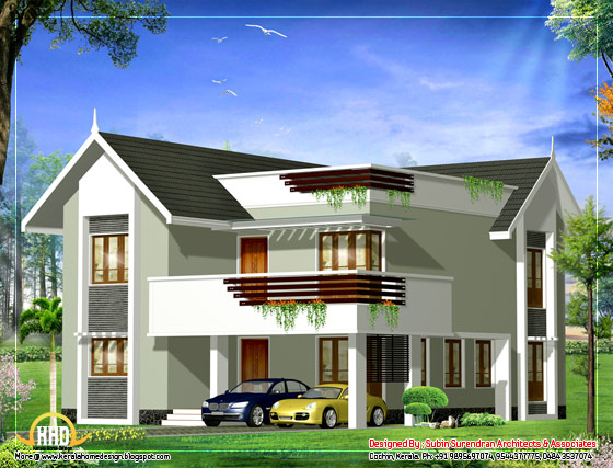 Duplex House Elevation - 2379 Sq. Ft. - (221 Sq. M. )(264 Square Yards) - February 2012
