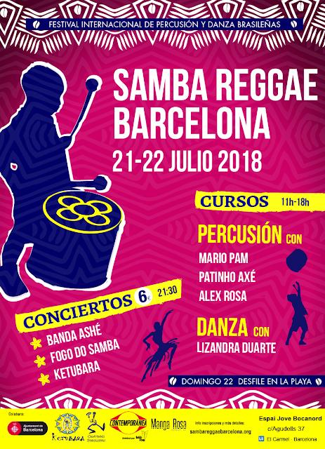 Colaboramos en el Festival Samba Reggae en Barcelona