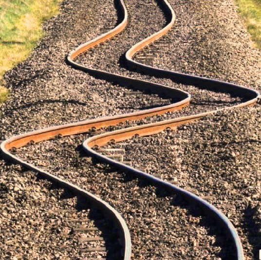 Evidence of earthquake ground movement by rippling of rails