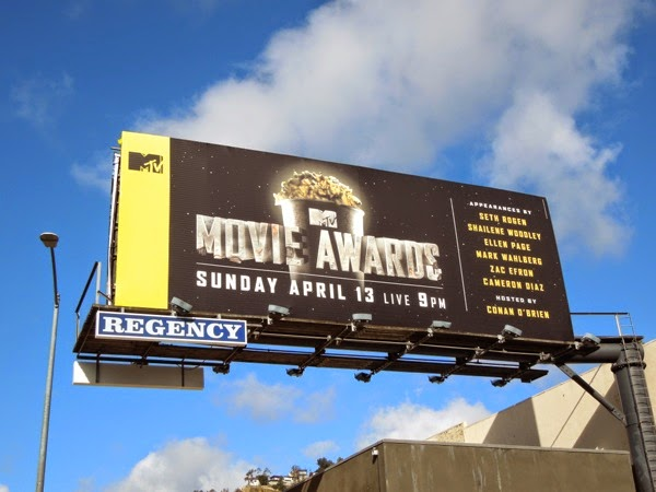 MTV Movie Awards 2014 teaser billboard