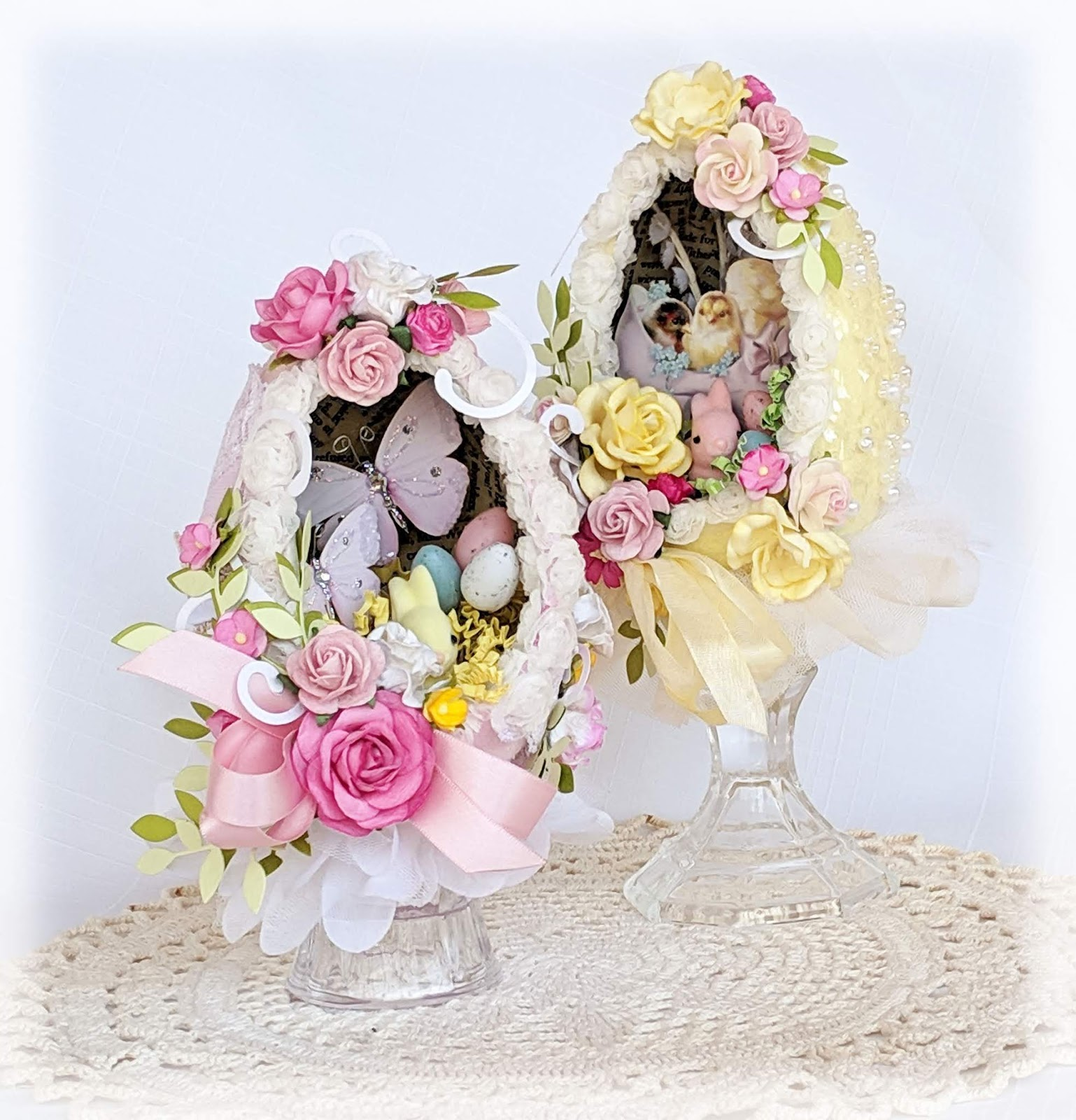 Terry's Scrapbooks: Decorated Easter diorama fairy eggs (2)
