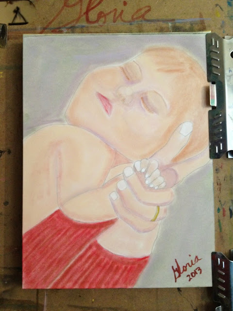 """Sleeping Baby"" sketch by Gloria Poole"