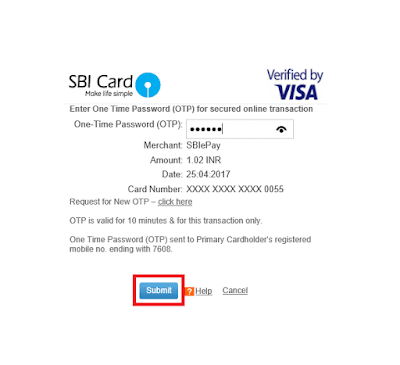 Works Tender TDC Payment Using Credit Card 05