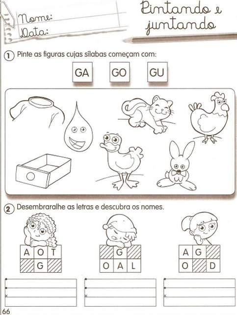 Atividades Com A Consoante G 1001 Maneiras De Alfabetizar