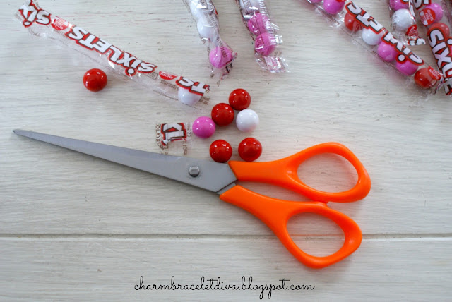 Sixlet chocolate candy scissors