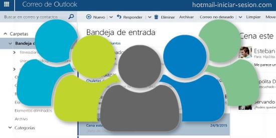 múltiples direcciones en Hotmail