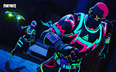 Fortnite Skin Liteshow Neon Time - Fond d'écran en Full HD 1080p