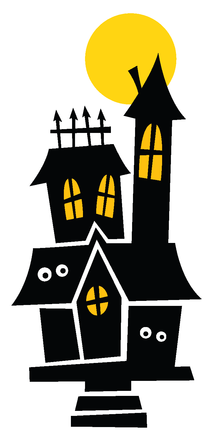 Halloween Haunted Houses Clipart. | Oh My Fiesta! in english