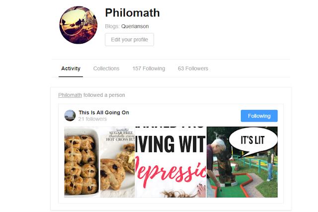 My bloglovin account