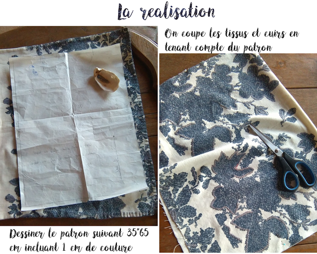 DIY - bag leather - flowers -upcycling - totebag -sac cuir