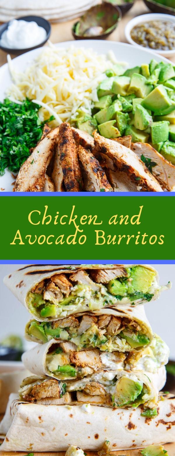 Chicken and Avocado Burritos #Chicken #AvocadoBurritos