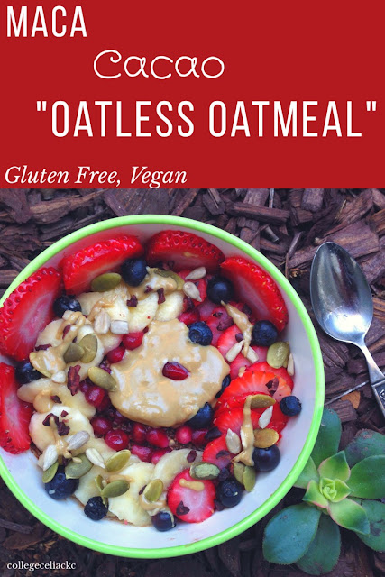 Chocolate Maca Oatless Oatmeal (Gluten Free, Vegan)