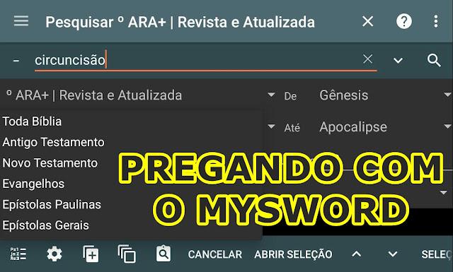 Preparar um sermão com MySword