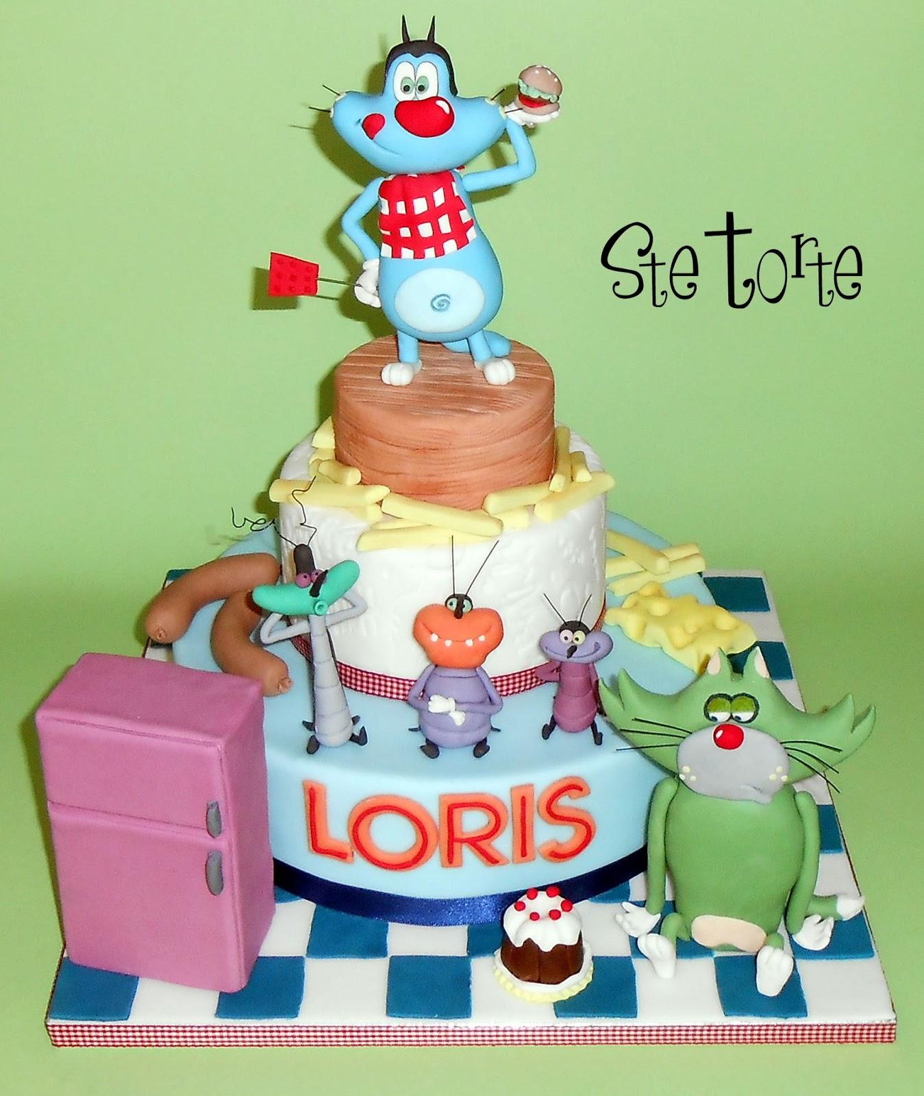 Famoso Ste torte: Torta Oggy e i maledetti scarafaggi RC25
